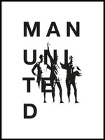 Poster: Manchester United legends, by Tim Hansson