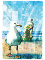 Poster: Seagulls and people II, by Ingrid Fröhlich
