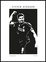 Poster: Memorable players Gerrard, by Tim Hansson