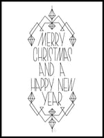 Poster: Merry Christmas, by Fia Lotta Jansson Design