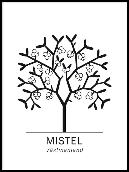 Poster: Mistletoe, by Paperago