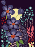 Poster: Moonlight Garden, by Liv Oom