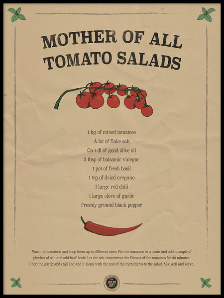 Poster: Mother of all Tomato Salads, by Owl Streets