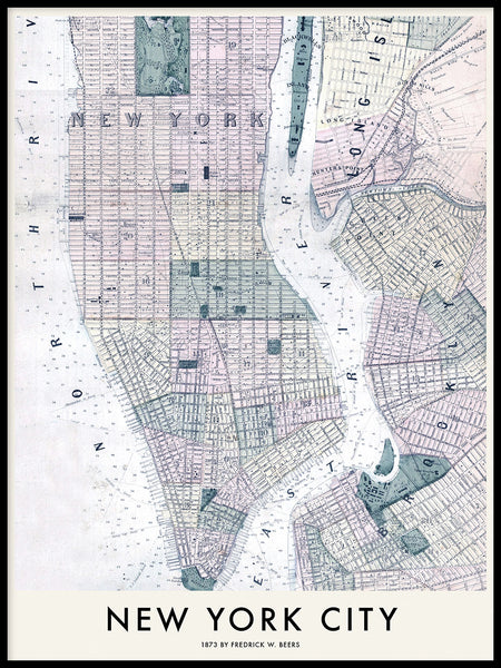 Poster: New York City 1873, by Owl Streets
