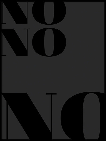 Poster: No, by Anna Mendivil / Gypsysoul