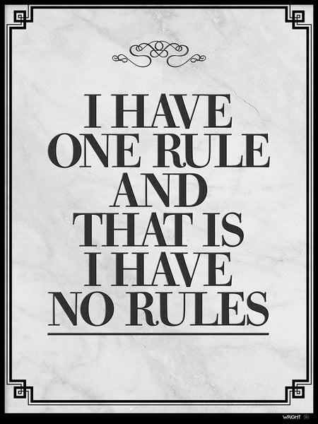 Poster: No rules, by Caro-lines