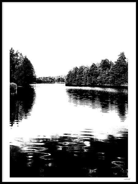 Poster: Nordic Lake, by Wintherland