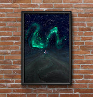 Poster: Night of Northern Lights, by EMELIEmaria