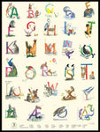 Poster: Norwegian Animal Alphabet, by Animo
