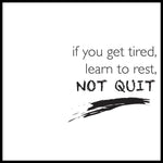 Poster: Not quit, by lindasofieolsson