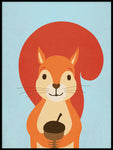 Poster: Nutty Squirrel, by Kort & Gott