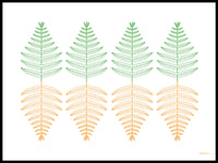 Poster: Fern, by Jenny Findahl / Snowtrail Design