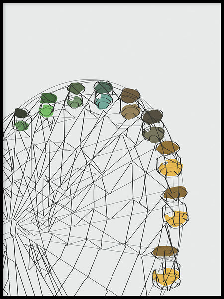 Poster: Ferris wheel, by LIWE