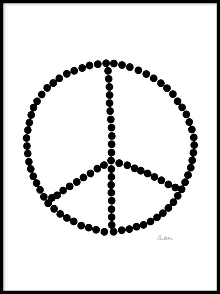 Poster: Peace, by Elina Dahl