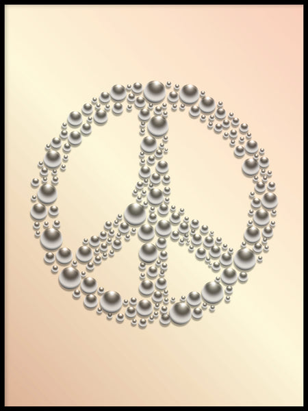 Poster: Peace, apricot, by GaboDesign