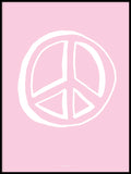 Poster: Peace, pink, by Discontinued products