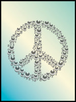 Poster: Peace, turquoise, by GaboDesign