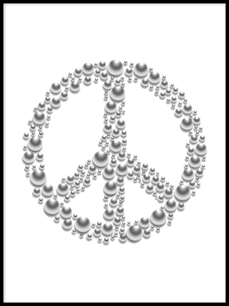 Poster: Peace, white, by GaboDesign