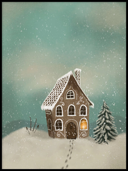 Poster: Ginger bread house, by Lindblom of Sweden