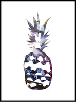 Poster: Pineapple, night, by LIWE