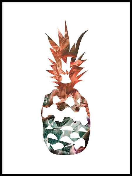 Poster: Pineapple, sunset, by LIWE