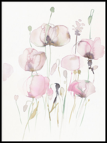 Poster: Pink Poppy 3, av Toril Bækmark