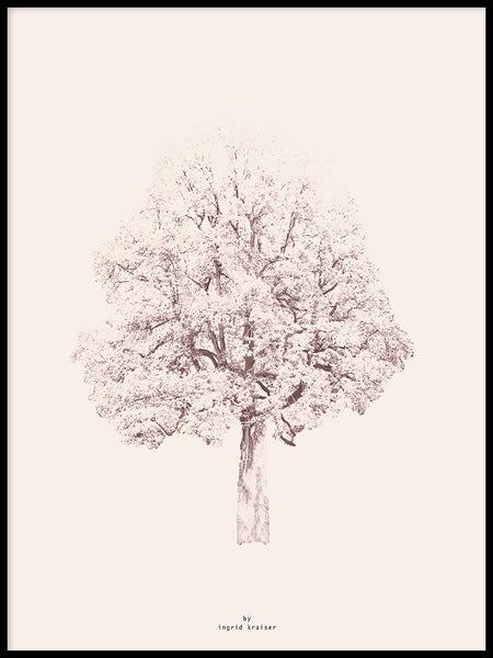 Poster: Pink Tree, by Ingrid Kraiser - ingrid art design