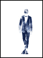 Poster: Pinstriped suit, by Anja Runfors Essén
