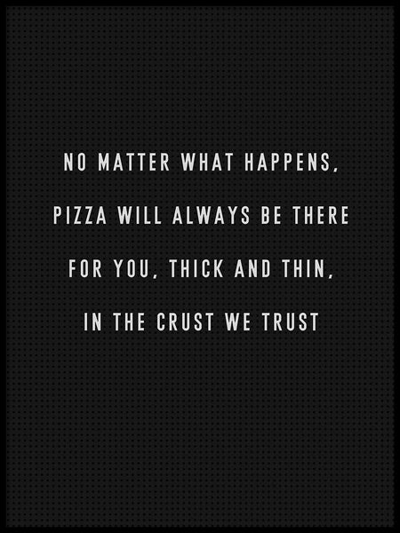 Poster: Pizza Trust, by Grafiska huset