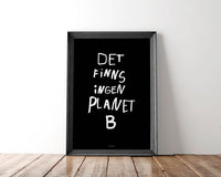 Poster: Planet B, black, by Discontinued products
