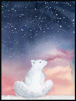 Poster: Polar Bear, by Cora konst & illustration