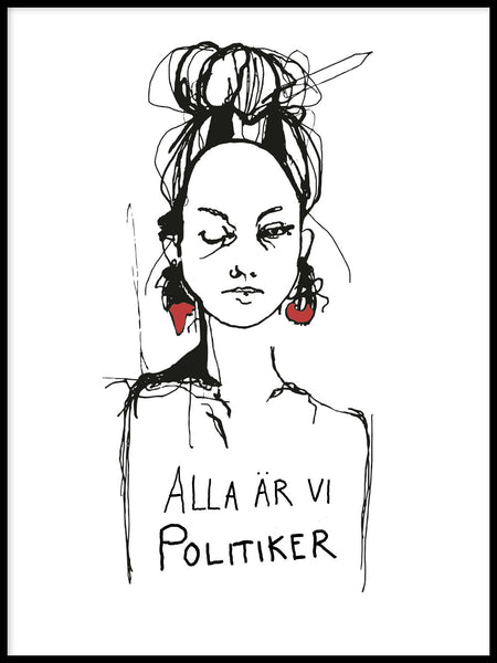 Poster: Politician, by Matilda Petersson