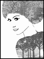 Poster: Portrait with trees, by Nancy Helena Berggren