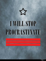 Poster: Procrastinate - rebell-style, by Caro-lines