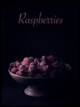 Poster: Raspberries, by LO Art Design