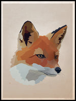 Poster: Fox, by Lisa Hult Sandgren