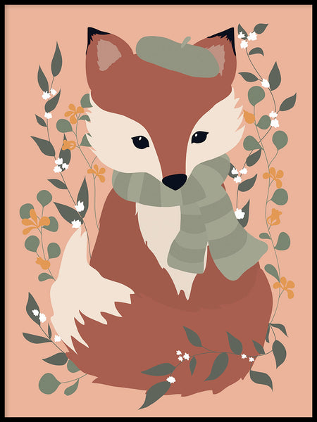 Poster: Fox, by Linn Leding
