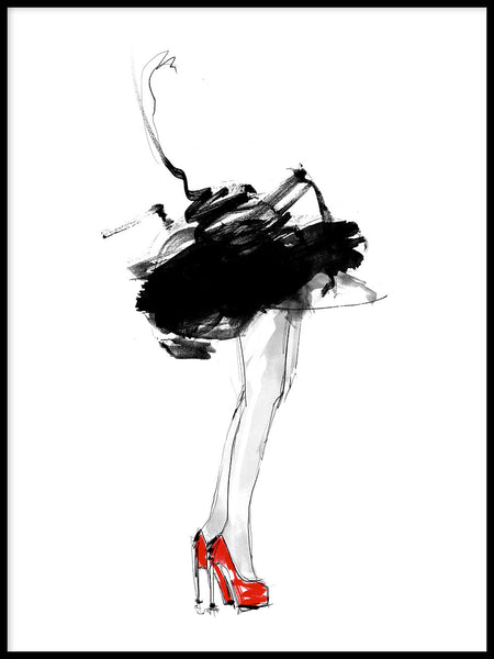 Poster: Red Shoes, by Lotta Larsdotter