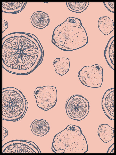 Poster: Pink lemon, by Fia-Maria