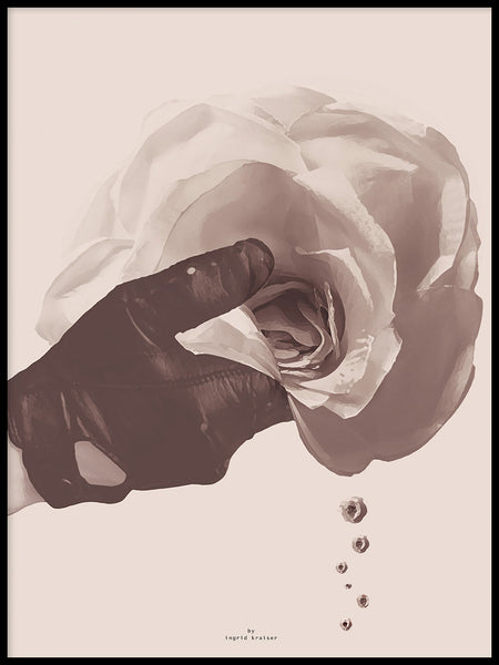Poster: Drops of roses, by Ingrid Kraiser - ingrid art design
