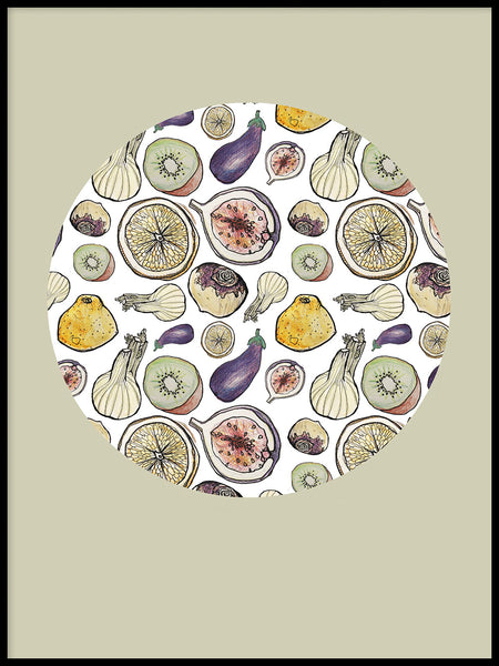 Poster: Round fruit, by Fia-Maria