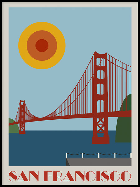 Poster: San Francisco, by Martin Bergman