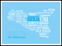 Poster: Sicilien - Benvenuti in Sicilia, by Discontinued products