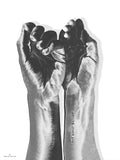 Poster: Silver Hands, by Ingrid Kraiser - ingrid art design