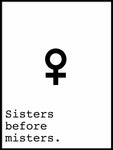 Poster: Sisters before misters, by Anna Mendivil / Gypsysoul