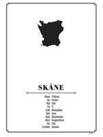 Poster: Skåne, by Caro-lines