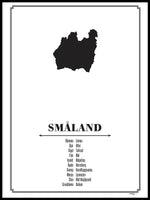 Poster: Småland, by Caro-lines