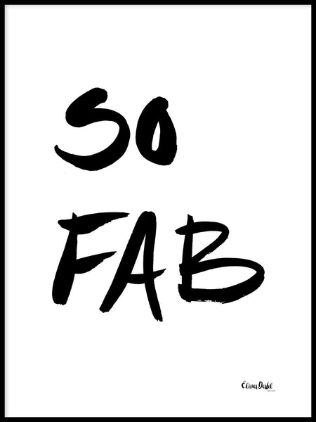 Poster: So Fab, by Elina Dahl