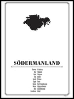 Poster: Södermanland, by Caro-lines