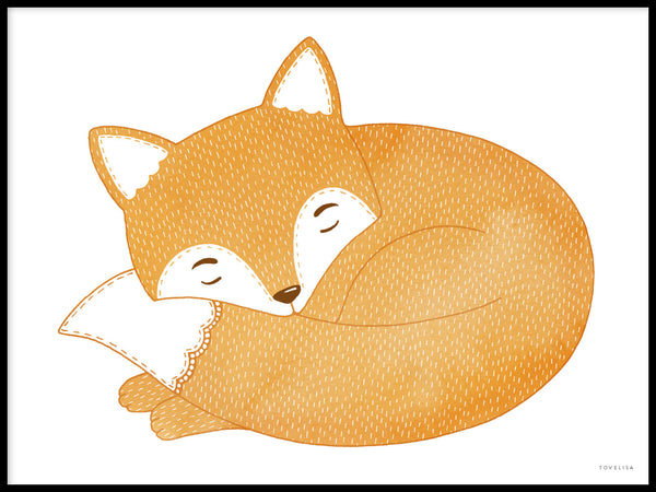 Poster: Sleeping fox, by Tovelisa